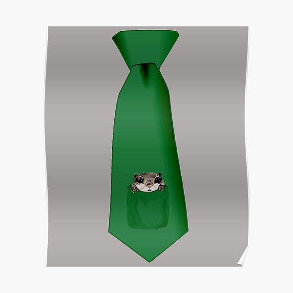 Flying Squirrel Tie Poster