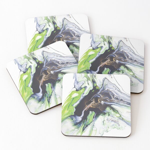 Navy & Lime Coasters (Set of 4)