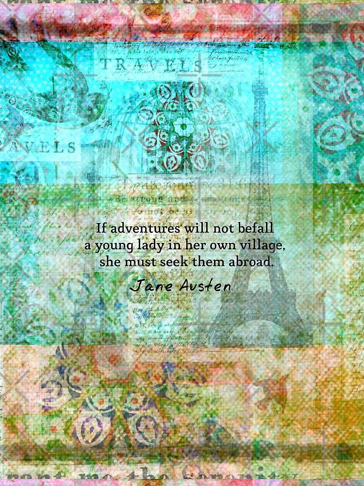 Witty Jane Austen travel quote by goldenslipper