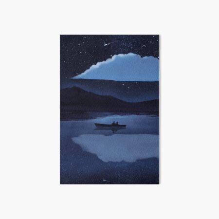Make a wish on the night of shooting stars Art Board Print