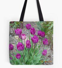 Purple Tulups Tote Bag
