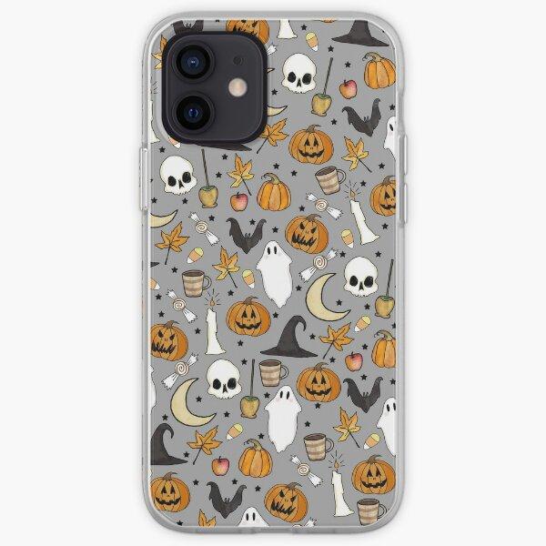 HALLOWEEN PATTERN • in graveyard gray iPhone Soft Case