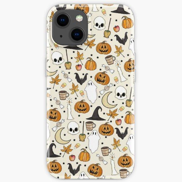 HALLOWEEN PATTERN • in bone white iPhone Soft Case