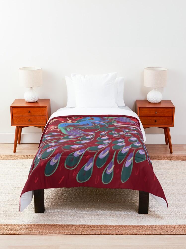 Alternate view of Mollymauk Back of Coat Grunge Style Comforter