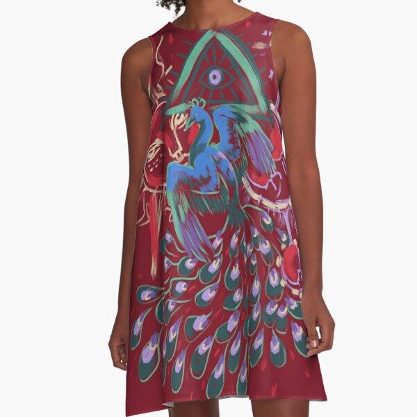 Mollymauk Back of Coat Grunge Style A-Line Dress