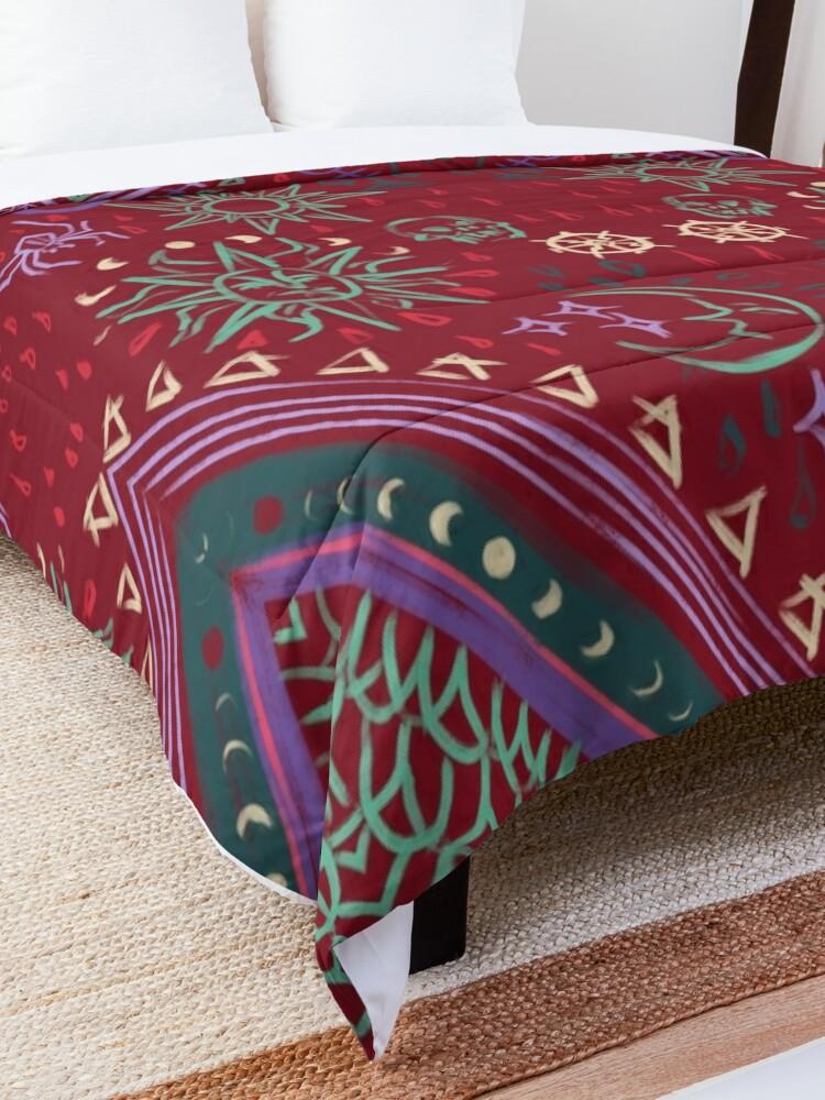 Alternate view of Mollymauk's Coat, Front Panels Comforter