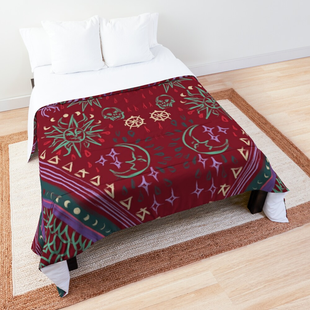 Mollymauk's Coat, Front Panels Comforter