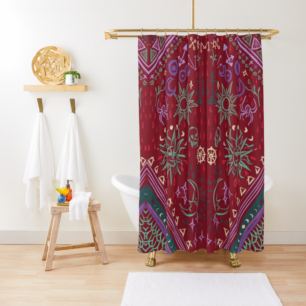Mollymauk's Coat, Front Panels Shower Curtain