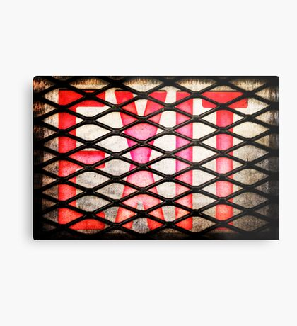 Caged Exit Metal Print