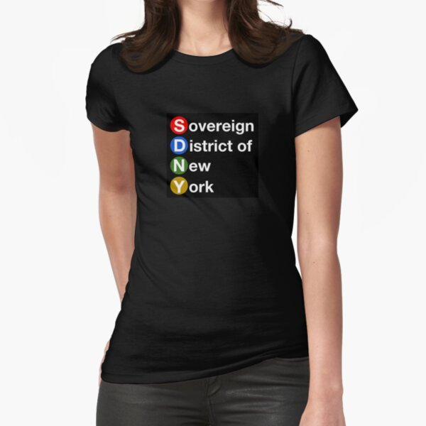 Sovereign District of New York Fitted T-Shirt