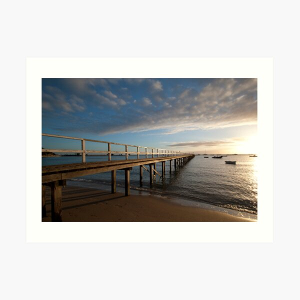 Sorrento Pier Art Print