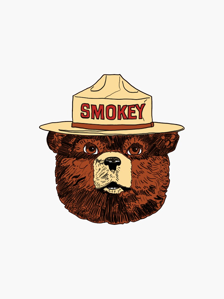 Smokey the Bear Color by JLArtandDesign
