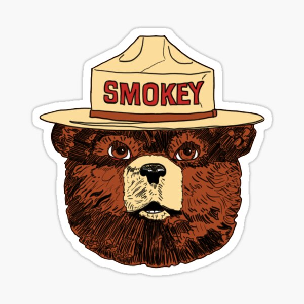 Smokey the Bear Color Sticker