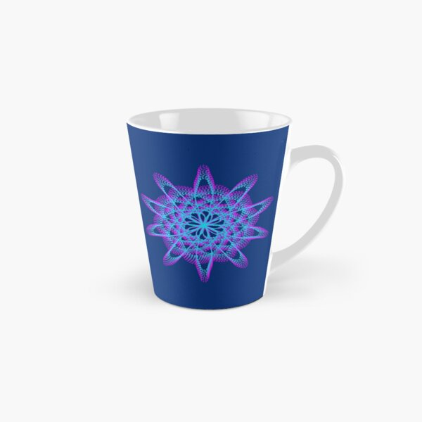 Spirograph with pink and blue Tall Mug