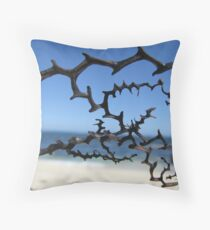trippy weed Throw Pillow