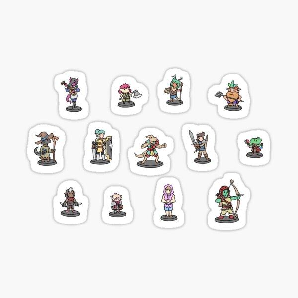 JoCat Crap Leitfaden für D & D Class Minis Aufkleber Sticker