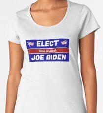 Elect (then impeach) Joe Biden Premium Scoop T-Shirt