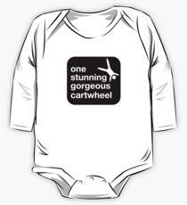 one stunning gorgeous cartwheel Long Sleeve Baby One-Piece
