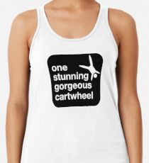 one stunning gorgeous cartwheel Racerback Tank Top