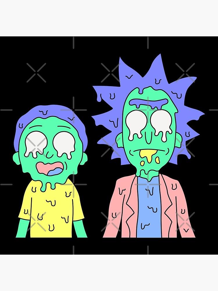 Rick and Morty melted by Julegendju