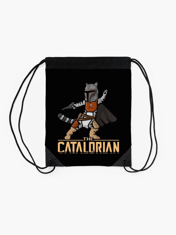 Alternate view of The Catalorian | Geekdom Series | DopeyArt Drawstring Bag