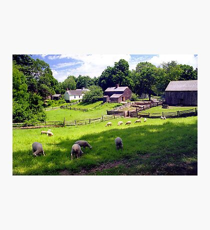 New England Colonial Farm  Photographic Print