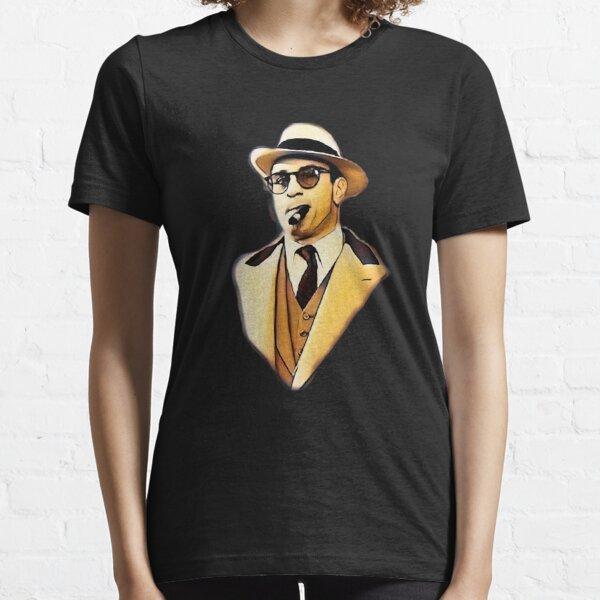 Robert De Niro smoking Al Capone mafia gangster movie Untouchables painting brown Essential T-Shirt