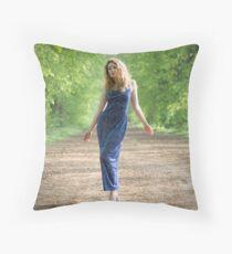 Blue Belle Throw Pillow