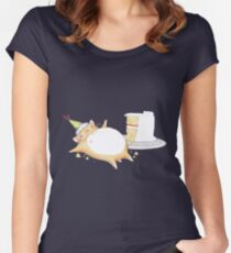 Greedy Hamster Women's Fitted Scoop T-Shirt