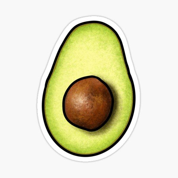 Avocado Dancing Halves on Aqua Sticker