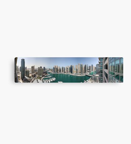 Dubai Marina Panorama Canvas Print