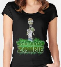 Vegetarian Zombie Women's Fitted Scoop T-Shirt
