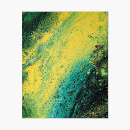 Murky Light Green River Art Board Print