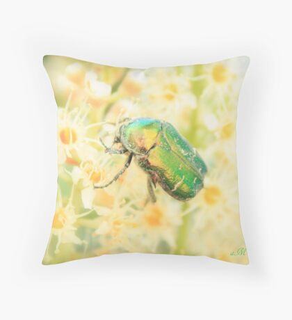 Feast of the Scarabeus Throw Pillow