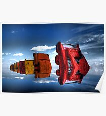 Floating Cadillac Ranch Poster