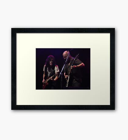 Pat McManus & Andy Powell. Framed Print