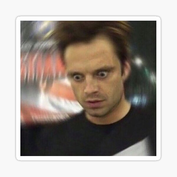 Sebastian Stan Reaction Meme Sticker