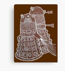 Doodle Daleks Canvas Print