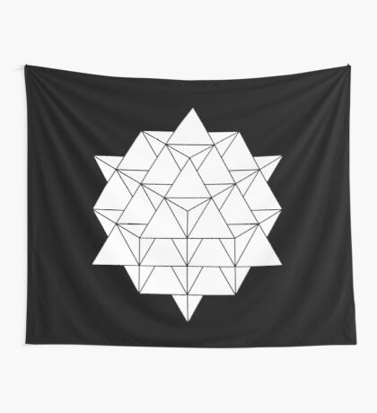 64 Tetrahedron Wall Tapestry