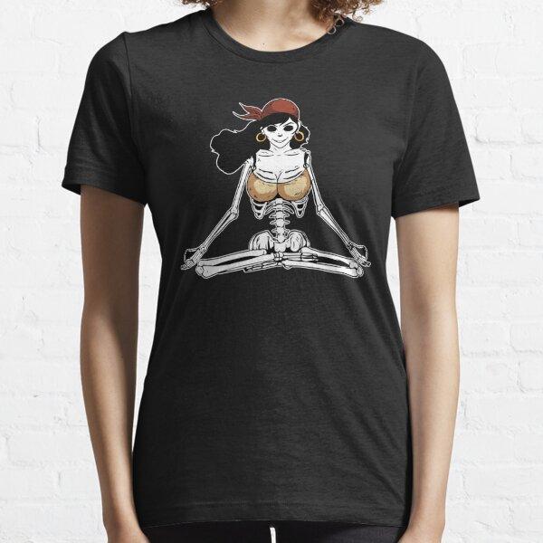 Skelett Yoga Frau. Essential T-Shirt