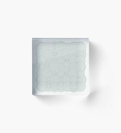 Raindrops 100 Acrylic Block