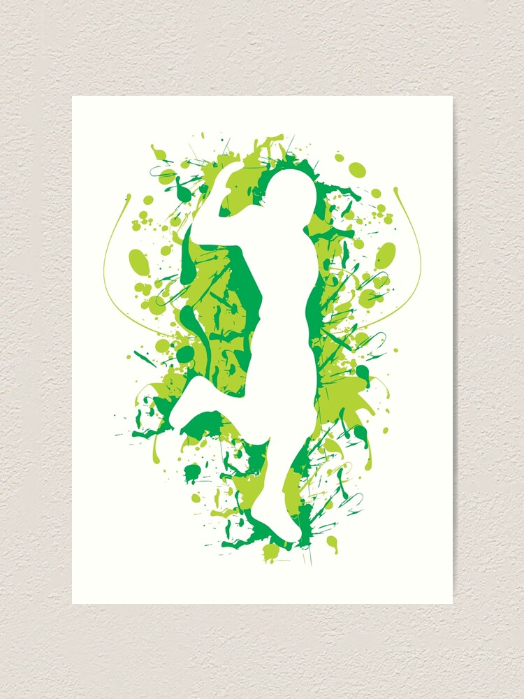 Gaming Hype Dance Emote Green Art Print By Rainbowdreamer
