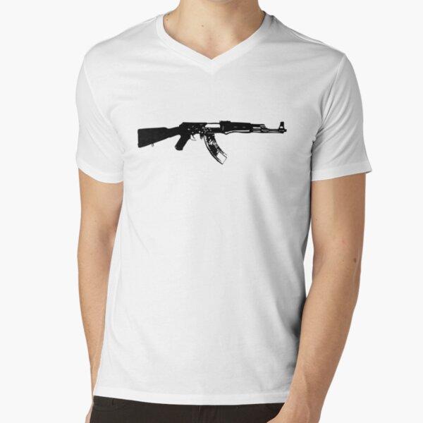 AK47 Give Peace A Chance Army War Military Assault Rifle Political T-Shirt
