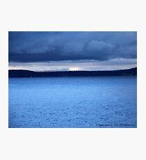 Storm Over Flathead Lake Photographic Print