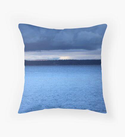 Storm Over Flathead Lake Throw Pillow