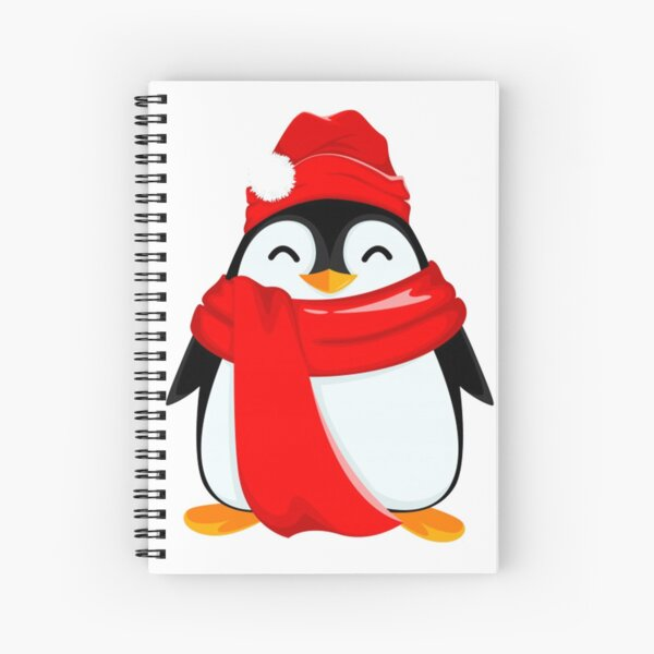 Happy Santa for the Baby Penguins Spiral Notebook