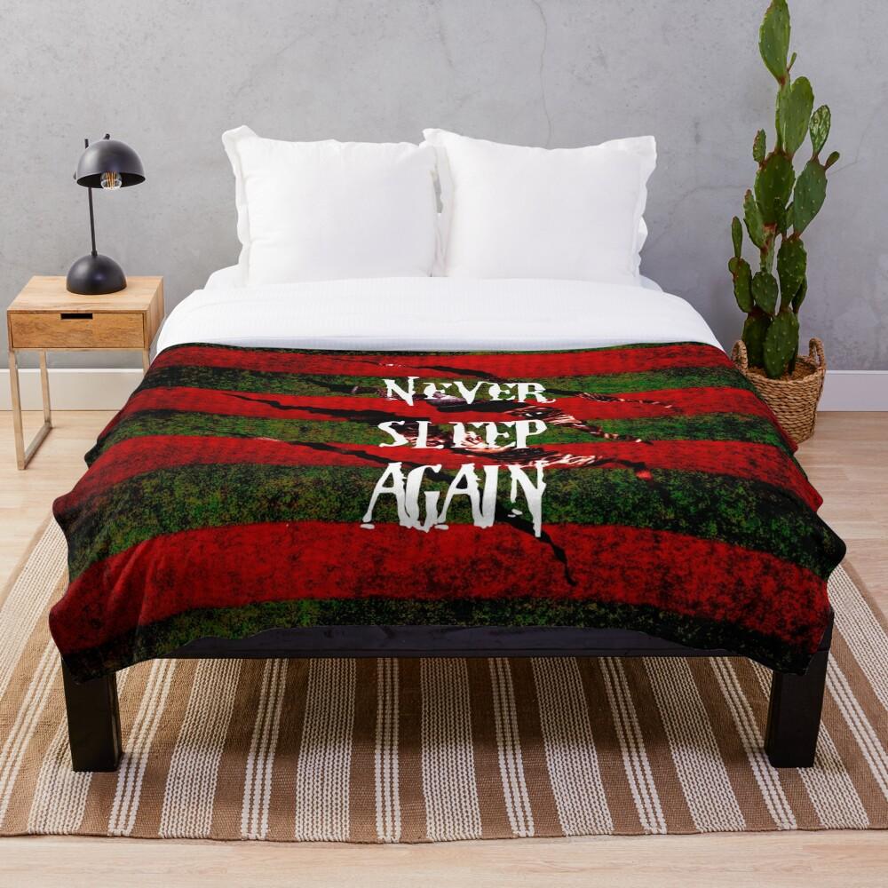Freddy Krueger Never Sleep Again Throw Blanket