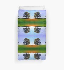 Posing tree on a hill in summertime Duvet Cover