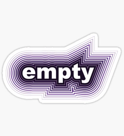 purple black empty Sticker