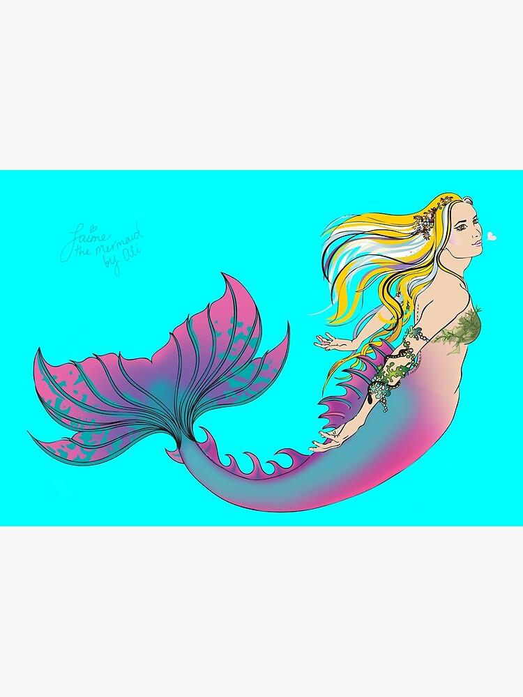 Aqua Hardcover Journal: Jaime the Mermaid by Ali by jaimethemermaid